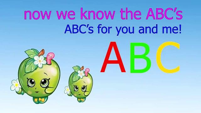 ABC song | alphabet song nursery rhymes | Shopkins apple blossbom