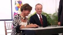Signature d'un protocole d'accord pour la construction de l'hôtel Hilton Garden à Port-au-Prince
