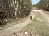 Poto Christo chute en moto cross 125 ktm