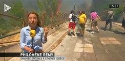 L'incendie en Grèce à travers les télés, en 42 secondes
