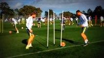 Cristiano Ronaldo celebró como gol haber ganado un ejercicio de entrenamiento