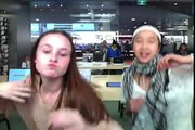 DANCING TO MOVES LIKE JAGGER IN THE APPLE STORE!!! - Tiff and Liz