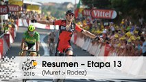 Resumen - Etapa 13 (Muret > Rodez) - Tour de France 2015