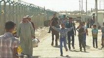 Syrians celebrate Eid at Jordan refugee camp