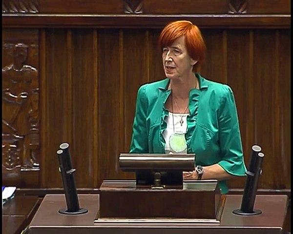 Poseł Elżbieta Rafalska - Wystąpienie z dnia 09 lipca 2015 roku.