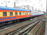 Train ride from Moscow Kazanskiy rail terminal towards Ramenskoe