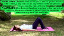 Rutina de ejercicios para abdominales inferiores - ABDOMEN BAJO PLANO