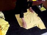 Plier t-shirt tee-shirt  Folding Pliage rapide fold
