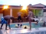 banho de piscina familia neves