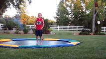 how to do a backflip 360 and front flip 360 on a trampoline