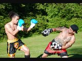TONY STRONG 2 OUT-DOOR Stand Up Muay Thai Fight Highlights