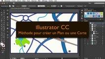 """Illustrator CC : Méthode """"Dynamique"""" pour créer un Plan ou une Carte"""