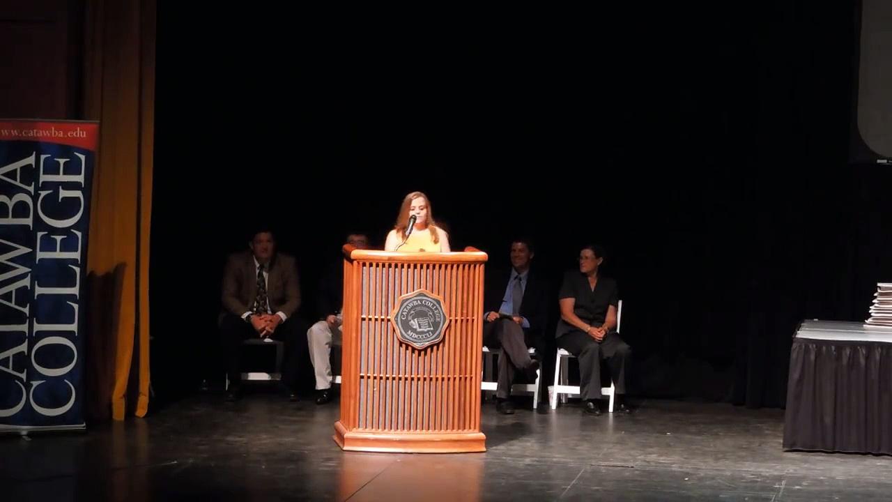 Catawba College Sports Banquet 2012 Senior Speech