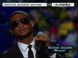Michael Jackson Memorial/Funeral - Usher Sings For Him - 7/7/09 (RIP Michael Jackson 1958-2009)
