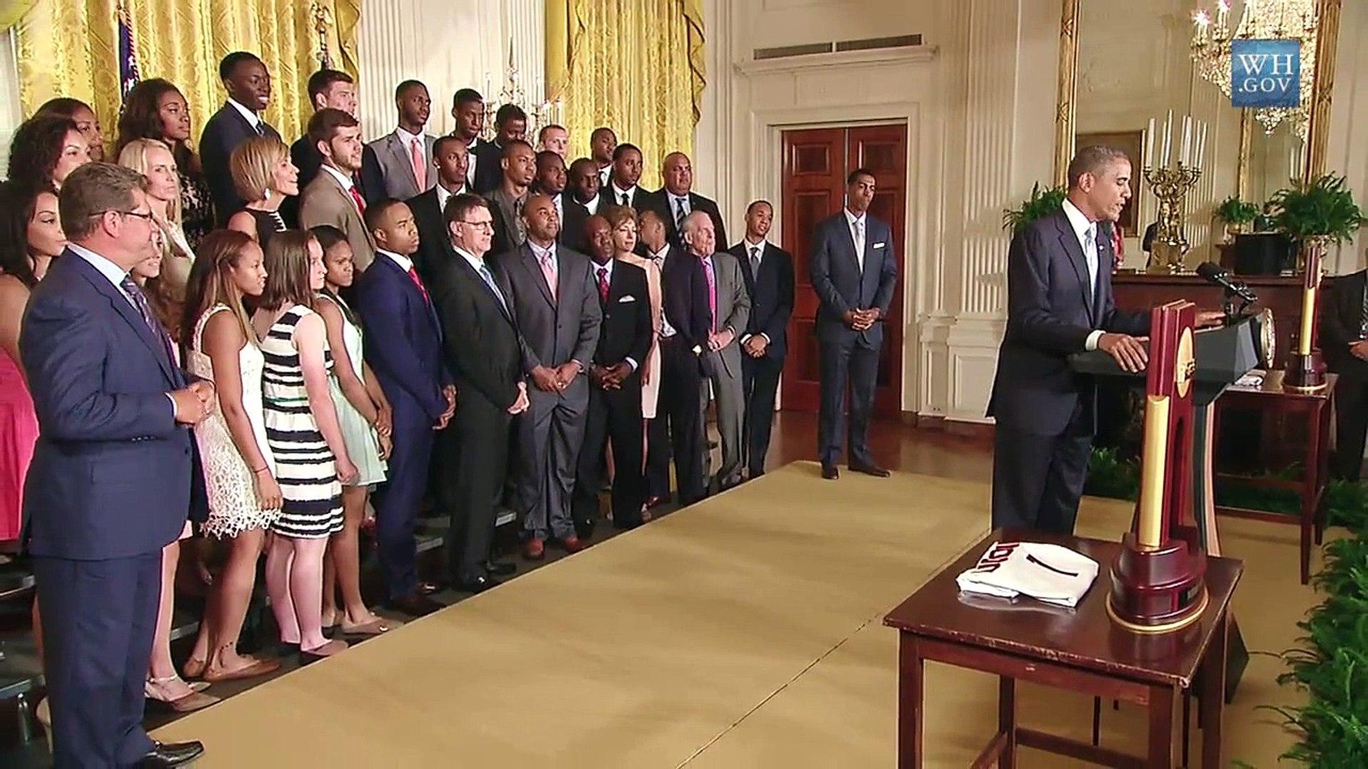 The UConn Huskies Visit the White House