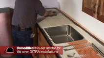 Schluter®Countertop System Installation Segment 3: Tiled Under-Sink/Backsplash/Tiles