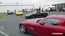 Straight Pipes Porsche Carrera GT HUGE Launch, Revs & Acceleration! vs Ferrari F430 vs Nissan GT-R