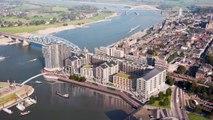Nijmegen embraces the river Waal