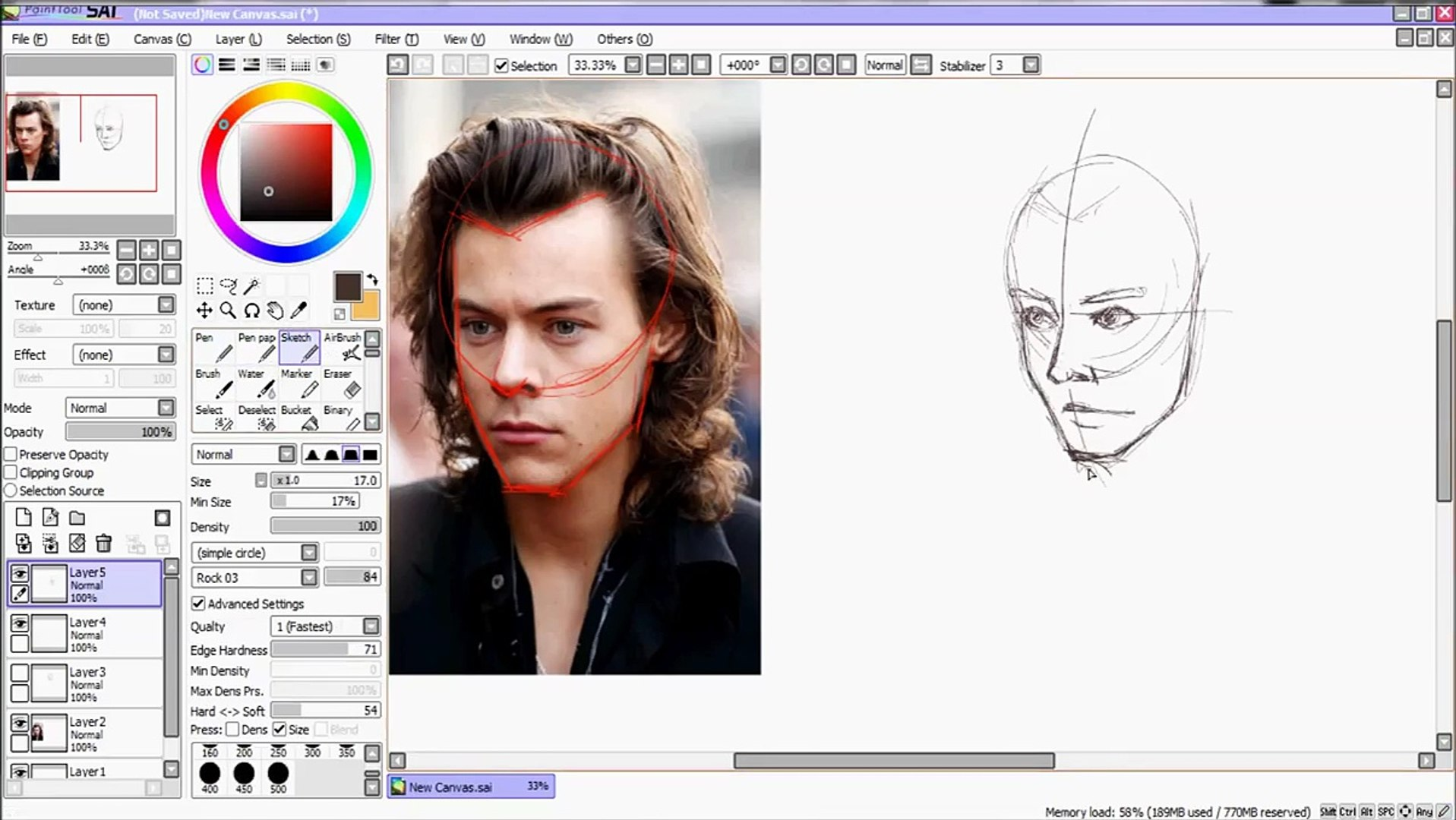 How To Draw Harry Styles (basic tips)