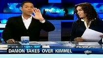 Matt Damon Takes Over Jimmy Kimmel Live | Jimmy Kimmel Tied Up While Matt Damon Hosts Awesome