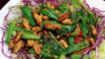 Eating live larvae coconut worms in Saigon: Extreme Vietnamese food with Back of the Bike Tours