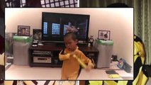Little Bruce Lee #Awesome and Funny, Kid (5 years old) act like as Bruce Lee