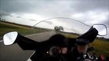 GSXR 1000 top speed at rain 299 kmh