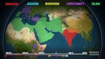 Répartition des religions à travers la planète