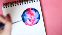 ☆ ★ WATERCOLOUR GALAXY PAINTING | Speed Painting ★ ☆