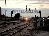 BNSF #4487 Leads Stacktrain, Amtrak #145 and #35, Joliet IL.