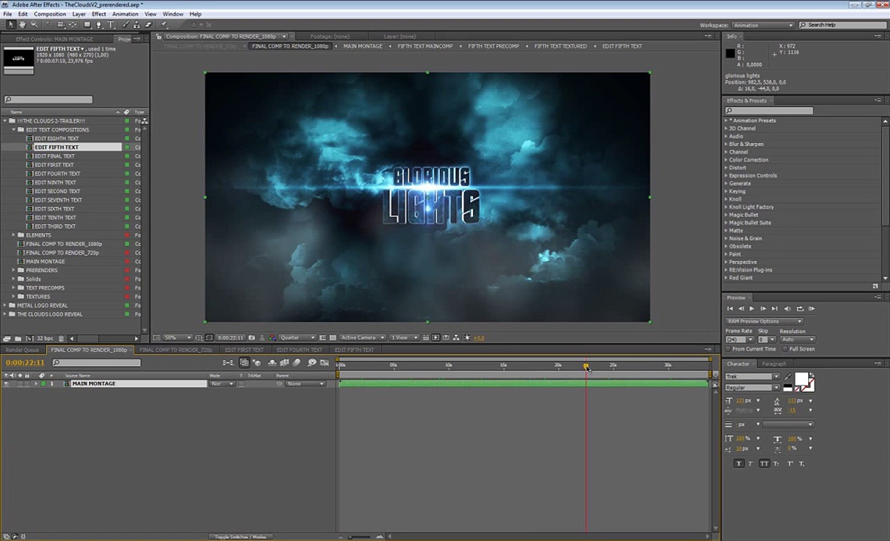 TUTORIAL 3D TEXT ANIMATION AFTER EFFECTS