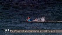Un surfeur attaqué par un requin en pleine compétition