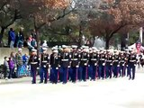 Marines on the march at the Fort Worth Stock Show Parade