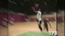 Michael Jordan destroy a pickup basketball in 1986 - Rare NBA Basketball Footage