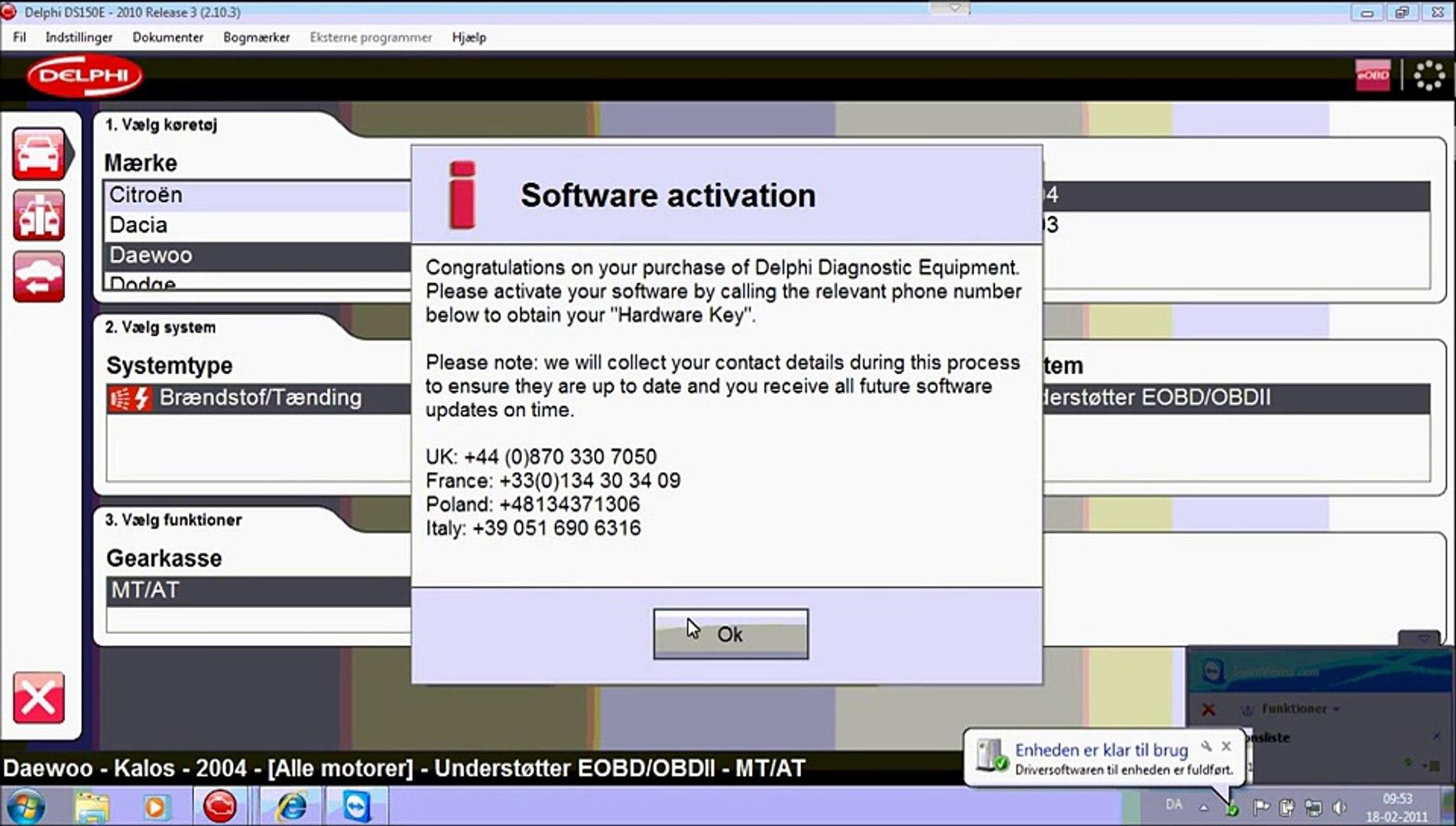 Demo - Opsætning af Delphi DS150E
