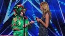 Piff the Magic Dragon Heidi Klum Helps Comedic Magician in Dragon Suit Americas Got Talent 2015