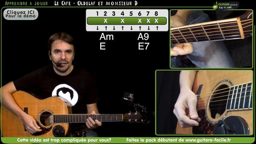 Apprendre Le Cafe de Oldelaf et Monsieur D - Tuto guitare