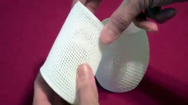 3D Printed Flexible Woven Cups