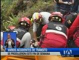 Impactantes accidentes de tránsito se produjeron este fin de semana en Quito