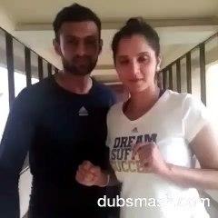 Shoaib Malik and Sania Mirza makes Dubsmash on Abhi To Party Shuru Howi Hai, after Pakistan Wins