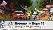 Resumen - Etapa 16 (Bourg-de-Péage > Gap) - Tour de France 2015