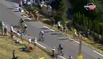 So impressive fall during Cyclism race Tour De France