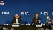 When dollar bills falls on Sepp Blatter - Corrupted FIFA