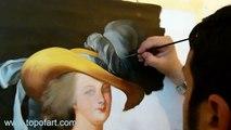 Art Reproduction (Vigee Le Brun - Marie-Antoinette en Chemise) Hand-Painted Step by Step