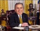 George W. Bush endorses Barack Obama