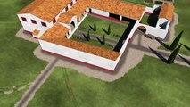 Villa gallo-romaine du Griffon.(systeme de chauffage en 3D )IIe siecles Aprés JC //Vitrole(France)