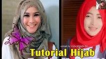 tutorial hijab paris segi empat modern terbaru