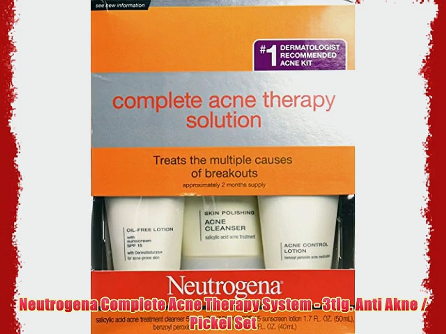 Neutrogena Complete Acne Therapy System 3tlg Anti Akne Pickel