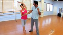 Melissa Rycroft and Tony Dovolani Dancing with the stars - injured rehearsal performance