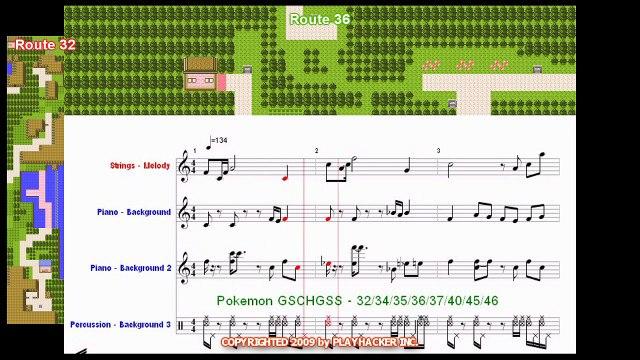 Pokémon JOHTO Rt 32 34 35 36 37 40 45 46 in HD by Pokémon USA Inc. - SHEET MUSIC